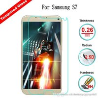 Wholesale Tempered Glass Alpha - 2016 Newest Ultra Thin 0.26mm HD Alpha Tempered Glass Screen Protector Protective Film with Retail package For Samsung S7