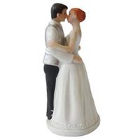 gâteaux d'anniversaire de mariage d'argent achat en gros de-Topper de gâteau de mariage avec les mariés Couple Figurine Argent Gilet Décoration de gâteau pour la fête d'anniversaire de mariage