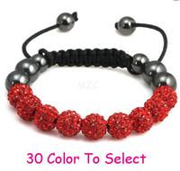 Wholesale 15 Ball Bracelet - Min.$15 Mixed Order+Free Shipping+Gift.10mm Whitecvdf Disco Ball Beads Crystal Shamballa Bracelet Fasion Jewelry For Women Men.