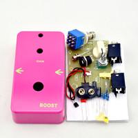 гитарный комплект diy оптовых-Создайте свой собственный Pink Booster - комплект для мастер-класса по гитарному механизму