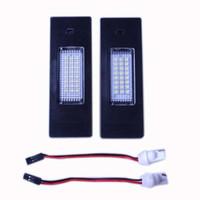 Wholesale E87 Led - NEW Pair Error Free 24 3528 SMD LED License Plate Light for BMW E63 E64 E81 E87 E85