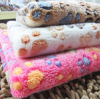 Wholesale Kennel Blanket - 3 colors Pet Blanket Soft Thick flannel Rug Beach Towel Blankets Air conditioning Rugs Comfortable Carpet Dog kennel mat cat blanket 60*40cm