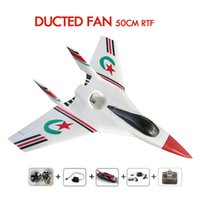 Wholesale Rc Planes Ducted Fan - Concept 50 EDF EPO 2.4G 4 channel radios control RC airplane 50mm ducted fan plane RTF with motor ,remote,lipo Airplanes