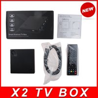 Wholesale Android Xmbc Tv Box - 1PCS Beelink X2 Android 4.4 TV BOX H3 Quad-Core 1.5Ghz 1GB 8GB 4K Video UHD 1080P Wifi Smart TV Player HDMI XMBC