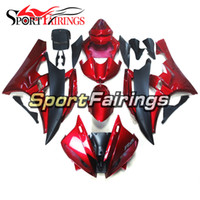 Red Matte Black Injection Fairings Pour Yamaha YZF600 YZF R6 06 07 2006 - 2007 ABS Motorcycle Full Fairing Kit Carrosserie Cowling