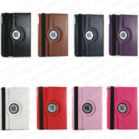 100PCS à 360 degrés Rotating Rotary PU Housse en cuir Smart Cover Case Stand pour iPad 2 3 4 air Mini pas de paquet