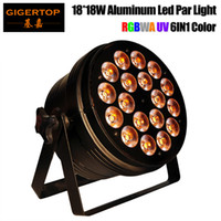 Gigertop TP-P62 18 * 18W RGBWA UV 6IN1 Stage de alumínio Led Light Silent Working 6CH / 10CH DMX 512 Controle CE ROHS China Led Supplier