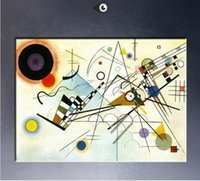 Wholesale Kandinsky Abstract Paintings - WASSILY KANDINSKY Composition,High Quality Genuine Handpainted Home Wall Decor Abstract Art oil Painting On Canvas customized size