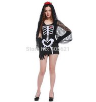 Costume cosplay 20set / lotto adulti femminile Donne Fantasma Phantom Bride Vampire Skull Witch Dress Halloween Horror Roleplay trucco