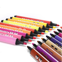 Wholesale 12 colors Stationery Sets Coarse watercolor pen School Supplies Washable Graffiti paintbrush kid children gift