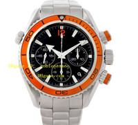 Wholesale Professional Chronograph - Luxury Mens Chronograph Watch Men's Orange Bezel Quartz Movement Professional 222.30.38.50.01.002 Planet Ocean Watch Luxury Watches