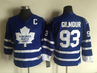 Wholesale Doug Gilmour - Top Quality ! 2016 Youth Kids CCM Toronto Leafs Ice Hockey Jerseys Cheap #93 Doug Gilmour Blue Boys Jerseys Authentic Throwback Jerseys