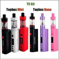 Wholesale Refill Mini - 2016 Topbox Mini 75W Kit clone Topbox Nano TC Kit 60W Temperature Control Starter Kit with Top Refilling Toptank Mini nano vape kits