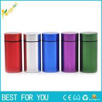 box für tabletten großhandel-Tragbare Reise Pill Box Wasserdichte Mini Blau Aluminium Tablet Pille Aufbewahrungsbox Fall Halter Medizin Box Container