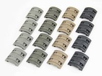 Wholesale handguard covers - 32Pcs Pack Tactical Accessories Universal Rubber Handguard Quad X-T-M Enhanced Modular Full Profile 1913 Picatinny Rail Covers in 4 colors