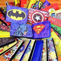dc geldbörsen großhandel-COMICS DC MARVEL DIE AVENGERS HÜLLE / EISEN MANN THOR / KAPITÄN AMERIKA / SUPERMAN GELD LOGO CREDIT OYSTER LIZENZ KARTE HALTER WALLET