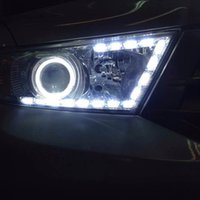 Wholesale Toyota Corolla Drl - AES A2 RGB LED DRL Controled APP With Switchback Function Crystal LED DRL Daytime Running Light For Toyota Corolla Ford Focus 2