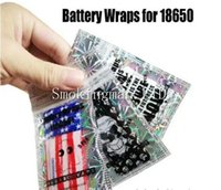 Wholesale Skulls Stickers - NEW 18650 Battery Wrap Paper Flag Skull Style Rechargeable Batteries Shrink Sticker Wrapper for LG HG2 Samsung 25R 30Q Sony VTC6 VTC5
