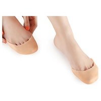 Ultra-Soft Silicone Invisible Toe Sleeve Protection des pieds Ballet Chaussure Talons hauts Tapis de pied Gel Protective Care Foot Cares Supply