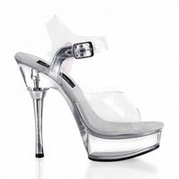 Full Clear Crystal 14CM Super High Heel Platforms Pole Dance / Performance / Star / Model Shoes, Wedding Shoes