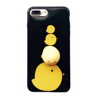 Wholesale 3d Back Case Cellphone - Lovely 3D Soft Chick Cartoon Silicone Cellphone Case Back Cover for iPhone 7 6s 6 Plus US01