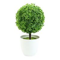 ingrosso vasi decorativi-Le piante artificiali del vaso di ceramica del mastone hanno modellato i fiori di simulazione decorati che si adunano le nozze del fiore