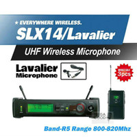 ingrosso microfono senza fili per cuffia auricolare-Auricolare per microfono wireless per conferenze 3Pz Mikrafon SLX14 SLX1 Sistema professionale per karaoke UHF Trasmettitore per cinghie Risvolto Clip per lavaliera