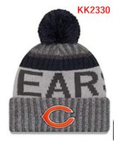 Wholesale Bear Warmer - New Fashion Unisex Chicago Winter Bears Hats for Men women Knitted Beanie Wool Hat Man Knit Bonnet Beanie Gorro Warm Cap