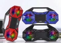 Wholesale Dancing Usb Speakers - New arrival ! WSA-8620 Bluetooth Speaker 5W*3 Portable Lantern Square Dance Bluetooth speakers Handsfree call USB TF FM AUX