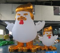 Wholesale Cute Advertising Mascots - Donald Trump Inflatable Rooster Gas Model UA Cute Cartoon Gold Cock Models Chicken Mascot Replica for Sale and Advertising 3m 5m 8m 10m