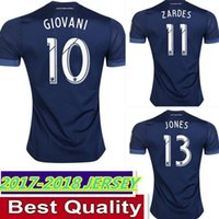 5bab3f22c10 Soccer Men Short Thai quality 2017 18 Los Angeles Galaxy Soccer Jerseys Away  Blue ZARDES GERRARD