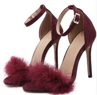 yüksek topuk ayakkabıları siyah yaz toptan satış-Yeni Moda Kadınlar Seksi Ayakkabı Pompaları Yüksek Topuklu Kadın Ayakkabı İlkbahar Yaz Sonbahar Ayakkabı Kadın Ince Topuklu pembe siyah