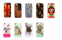 Hibou Royaume-Uni Etats-Unis Drapeau Soft TPU Gel Housse Pour Iphone 7 I7 / Plus / 6 6s Leopard Mode Cute Family Home Love Love Cover Covers