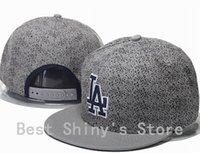 Squadra sportiva LA cappello grigio di Los Angeles Dodgers di baseball Snapback Adjustable 2015 Uomo Cap in Fashion Design