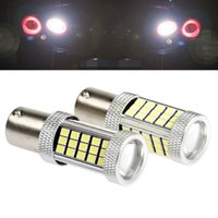 Wholesale p21w led white canbus - High Bright 1156 BA15S P21W Canbus 66 LED Bulbs 2835 SMD Auto Lamp Tail Light Turn Signal Lights Bulbs Car Light Backup Lamp Light Sourcing