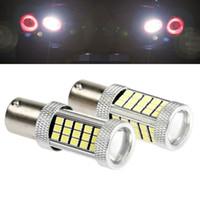 Wholesale Auto Beam - High Bright 1156 BA15S P21W Canbus 66 LED Bulbs 2835 SMD Auto Lamp Tail Light Turn Signal Lights Bulbs Car Light Backup Lamp Light Sourcing