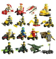 Wholesale Small Luban - Assembling building blocks of small particles of Luban enlightenment toy truck small doll lot toys