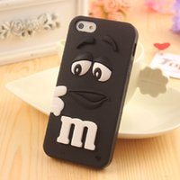 Wholesale Cute Phones For Sale - Wholesale Hot Sale Cute Cartoon MM Rainbow Bean Phone Cover Case Soft Silicon Couple Phone Case for Iphone 5s SE 6 6s plus