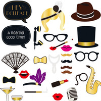 Wholesale dress up props - Creative Take Photo Prop Party Dressing Up Articles DIY Red Lips Photograph Props For Adult Many Styles 10jc C R