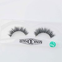 Wholesale Hair Feather Extensions - 3D Mink lashes 100% thick real mink hair false eyelashes natural for Beauty Makeup Extension fake eyelashes free shipping