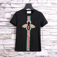 Wholesale New Shirts Patterns For Men - 2017 New Luxury Brand embroidery t shirts for men Italy Fashion poloshirt shirt men High street Snake Little Bee Tiger print mens t-shirt