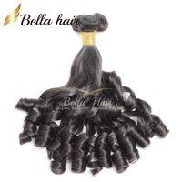 наращивание волос funmi оптовых-Bella Hair® 8A Funmi детские вьющиеся перуанские волосы Весна локон Свободная волна натуральный черный наращивание волос необработанные волосы утка Бесплатная доставка