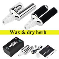 Wholesale V Torch - Yocan Torch Portable Vaporizer Kit Wax dry herb vape Pen Quartz Dual Coil Herbal v vapor bong electric dab e cigarettes TZ723