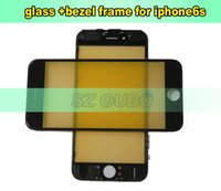 Wholesale Iphone Back Glass Bezel - Original Quality Front Glass Lens+Middle Frame Bezel For iPhone 6S Front Back Glass Bezel Frame For Mobile Phone Repair 50pcs lot