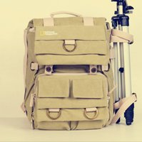 Wholesale Canvas Straps For Bags - National Geographic NG5160 Earth Explorer NG 5160 Canvas DSLR Camera Rucksack Backpack Laptop bag for Photography package
