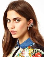 Wholesale Cheap Gold Ear Cuff - New Hot Fashion Elegant Earhook Ear Clip The Wings Of Personality Ear Cuff Women Earrings Jewelry For Women Cheap Gift