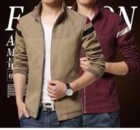 Wholesale Trend Fashion Jacket Korean - 2016 New Fashion Brand Jacket Men Trend Patchwork Korean Slim Fit Mens Designer Clothes Cotoon Men Casual Jacket Slim 4XL 5XL