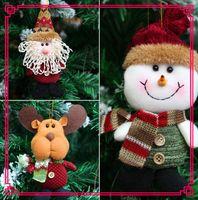 Wholesale Christmas Tree Gadget - 2017 Christmas Gift Santa Claus Snow Man Doll Christmas Decorations Xmas Tree Gadgets Ornaments Doll Party Supplies