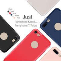Slim Silicone Case for iphone 7 6 6s 5 5s Cover Candy Colors Soft 065mm TPU Matte Phone Case Shell com DUST CAP para Apple iphone 7 plus