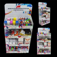 Wholesale Iphone Box Eu Accessories - acrylic display box 8 in 1 mobile phone portable accessories use for iphone samsung smartphones with usb charger & cable aux cable earphones